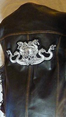 """Patch écusson /""""tete de mort et serpents gris /"""" harley moto usa country biker,"""