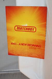 1983 Matchbox Marchand Catalogue Avec Prix Livre, Original