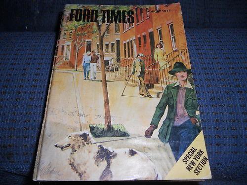 1977 FORD LTD GRANADA FORD TIMES MAGAZINE AUG 1977