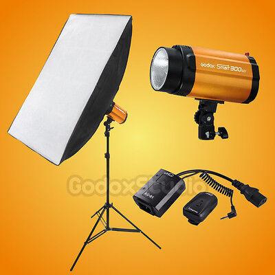 Godox Smart 300W Studio Flash Strobe 60x90cm Softbox Single Light Kit 220V 230V