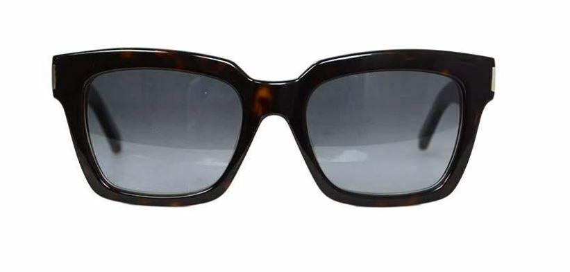 SAINT LAURENT Women's SL-BOLD-1 YSL Tortoise Shell 086 HD 54-20-140 Sunglasses