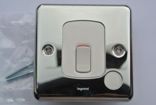 Legrand 7332 14 20A fusion dp interrupteur blanc cordon outlet acier poli chrome