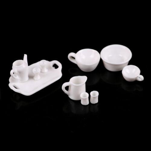 10pcs 1//12 Dollhouse Miniature Kitchen Toy Tray Cup Dish Tableware Set Toy XU
