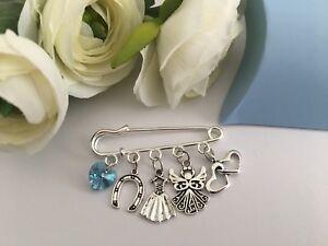 Something Blue Bride Charm Pin Chimney Sweep Wedding Gift Hen Party Keepsake