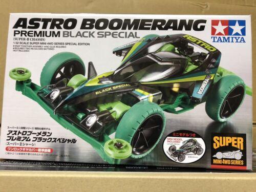 Super II Chassis Black Spec Tamiya 95377 1//32 Mini 4WD Astro-Boomerang Premium