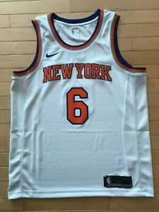 410d3172f Kristaps Porzingis  6 New York Knicks Nike NBA White Swingman Jersey ...