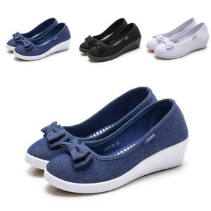 Women-039-s-Casual-Slip-On-Leather-shoes-Moccasins-Comfort-Driving