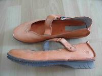 KHRIO extravagante Riemchen-Schuhe orange Gr. 39 TOP (HMI714)