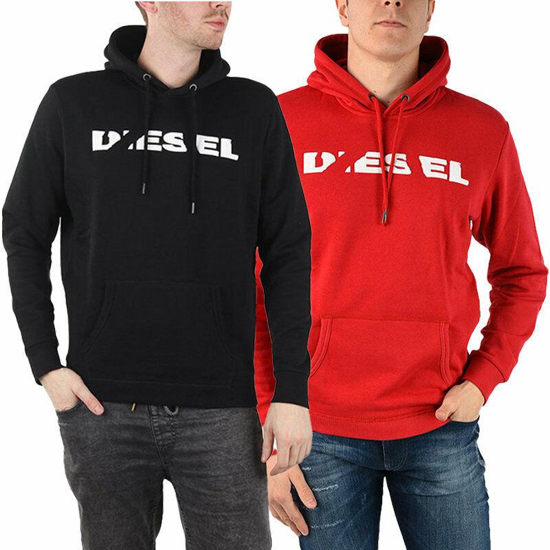 DIESEL S AGNES BRO Mens SWEAT Hoodie Long Sleeve Hooded Top Sweatshirt Pullover