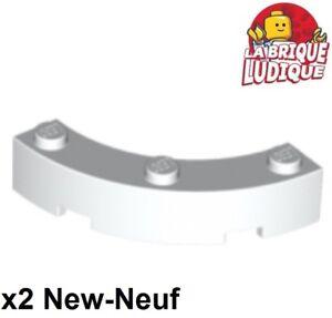2x Brique Brick round corner rond 4x4 48092 Dark Bluish Gray Lego