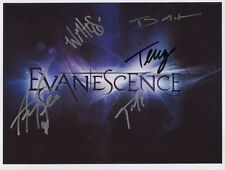 Evanescence (Band) SIGNED Photo 1st Generation PRINT Ltd No'd + Certificate / 5