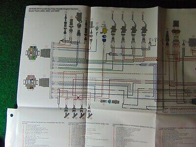2002-2004 Mercury Outboard 40 50 60 Wiring Harness Diagram Tiller Handle |  eBayeBay