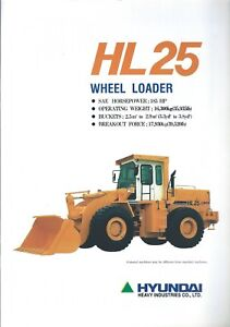 Equipment-Brochure-Hyundai-HL-25-Wheel-Loader-1994-E4918
