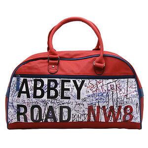 Plan-B-rot-Abbey-Road-Bowlingtasche-Reisetasche-mit-Schulterriemen