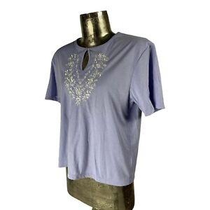 Poppy Cotton Lilac Purple Top T-Shirt NEW UK L 16 (EU44) Women's RRP £28