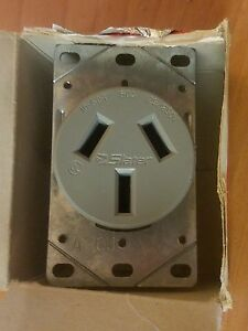 New In Box Slater Range Outlet 3890 3 Wire Flush Range Outlet Ebay