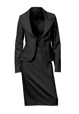 Kostüm Set Ashley Brooke NEU Gr.34 Schwarz Stretch Anzug Blazer Rock Black 2Tlg
