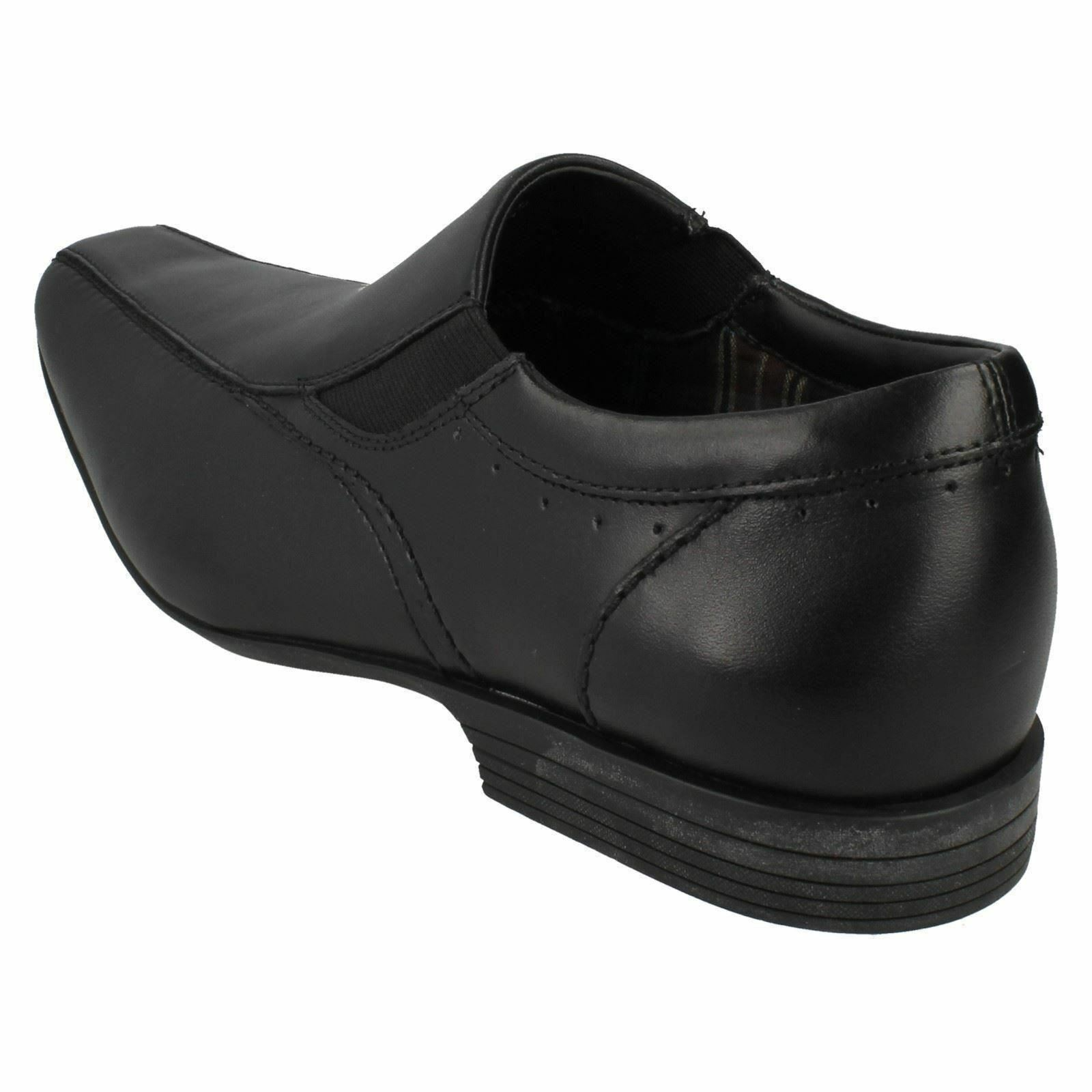 Herren Clarks Forbes Step schwarzes G Leder Formell Slipper Schuhe G schwarzes PASSFORM 514eb8