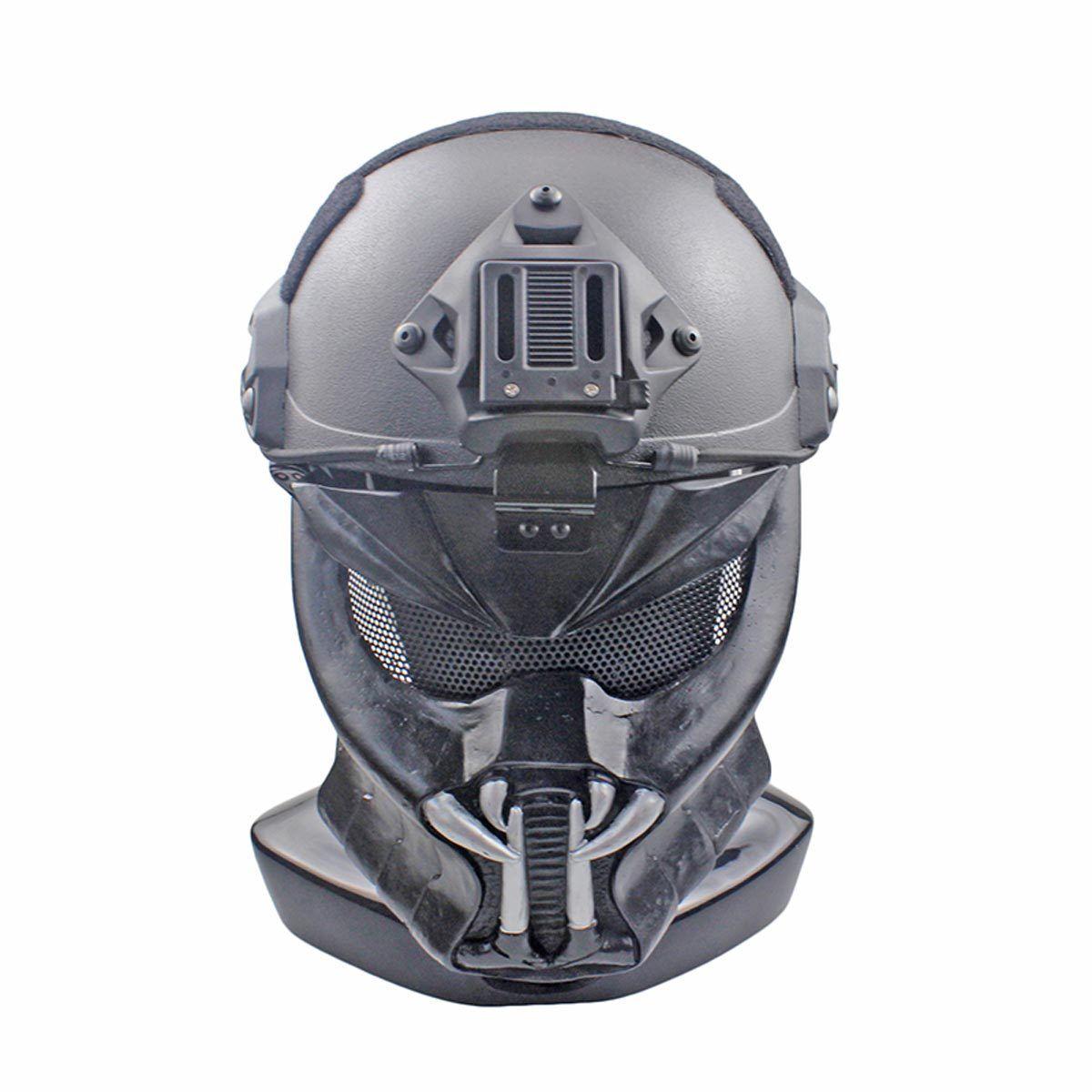 NEW Wire Mesh Glass Fiber Resin Airsoft CS Half Face Mask For Helmet AVP M163