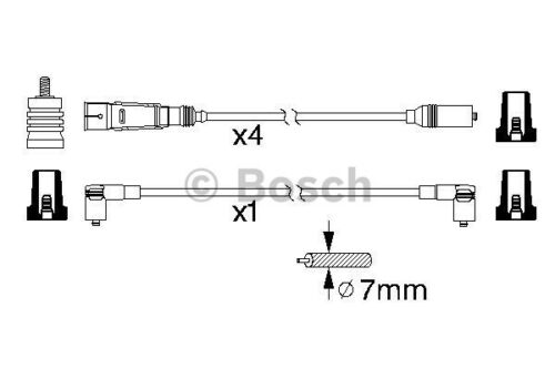 NEW SPARK LEADS COPPER SET 0986356338 BOSCH HT IGNITION CABLES B338