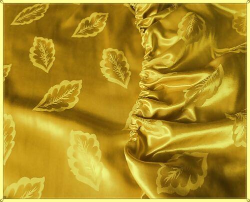 Blättermuster Größe 100 cm x 200 cm Spannbettlaken Glanzsatin Farbe Gold m
