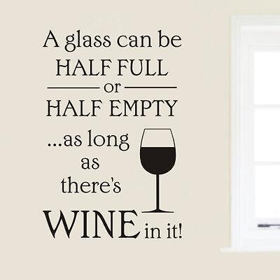 Kitchen Cafe wall art quote sticker - Wine H589K