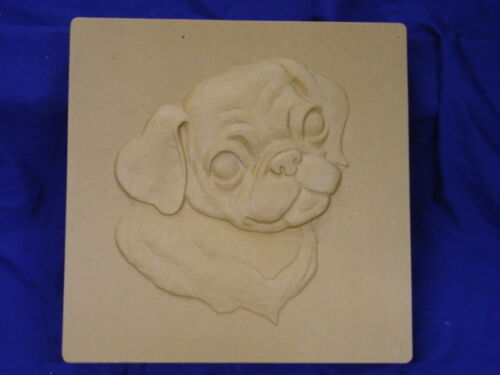 Pug Dog Plaster or Concrete Stepping Stone Mold 1253 Moldcreations