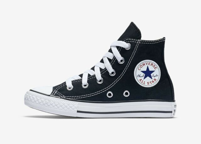 ac9fea16a25aa0 CONVERSE Chuck Taylor All Star Black White Hi Top Shoes Kids Girls Sneaker  3J231