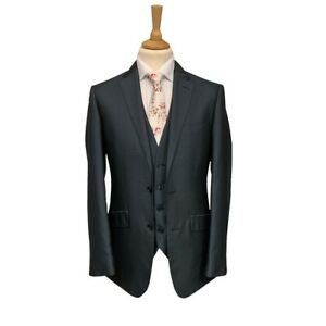 Mens Two-Tone Petrol Blue 3 Piece Suit / Wedding / Formal / Prom