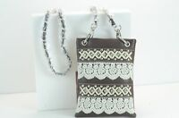 Womans Studded Rhinestone Lace Mini Messenger Bag Purse Hh463-6