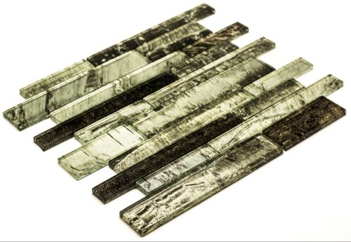 Green /& Wood Glass Mosaic Tiles KitchenBathroomWall30 x 30 cm8mm