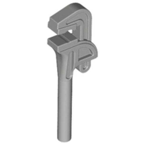 x93 Minifigures Lego 1x Key Wrench Pliers Mechanic Light Grey Old