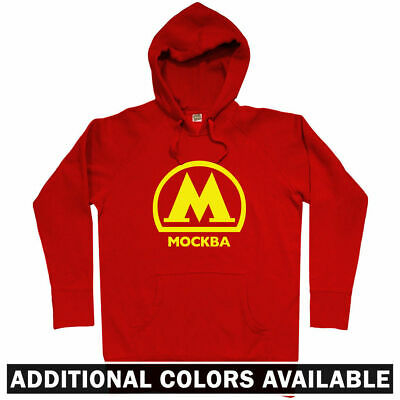 Moscow Metro Sweatshirt Russia Subway Rail Mockba Logo RUS Crewneck  Men S-3XL