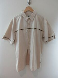 Colorado Mens Shirt Size 2XL Short Sleeve Button Up Beige Embroidered Nylon