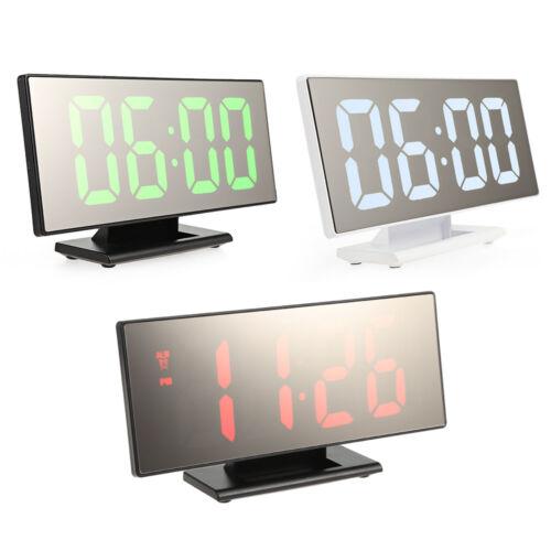 "Digital 7.8/"" LED Bedroom Dual Function Mirror Alarm Clock USB Battery Powered"