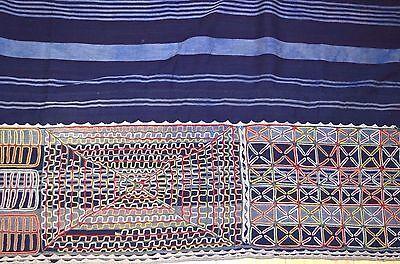 Antique Wodaabe Fulani Cloth Wrapper Indigo Fabric Embroidery Panel Niger Africa