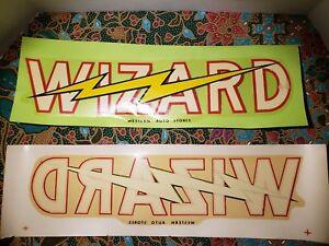 Vintage Water Decal Slide Wizard Western Auto Stores Houston Tx Decals Rare Ebay