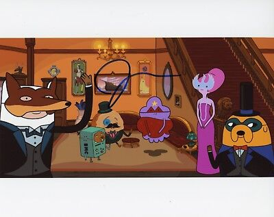 """Adventure Time"""" 8x10 Photo C~~ Good For Antipyretic And Throat Soother Television Entertainment Memorabilia The Best ~~ John Dimaggio Authentic Hand-signed """"jake"""