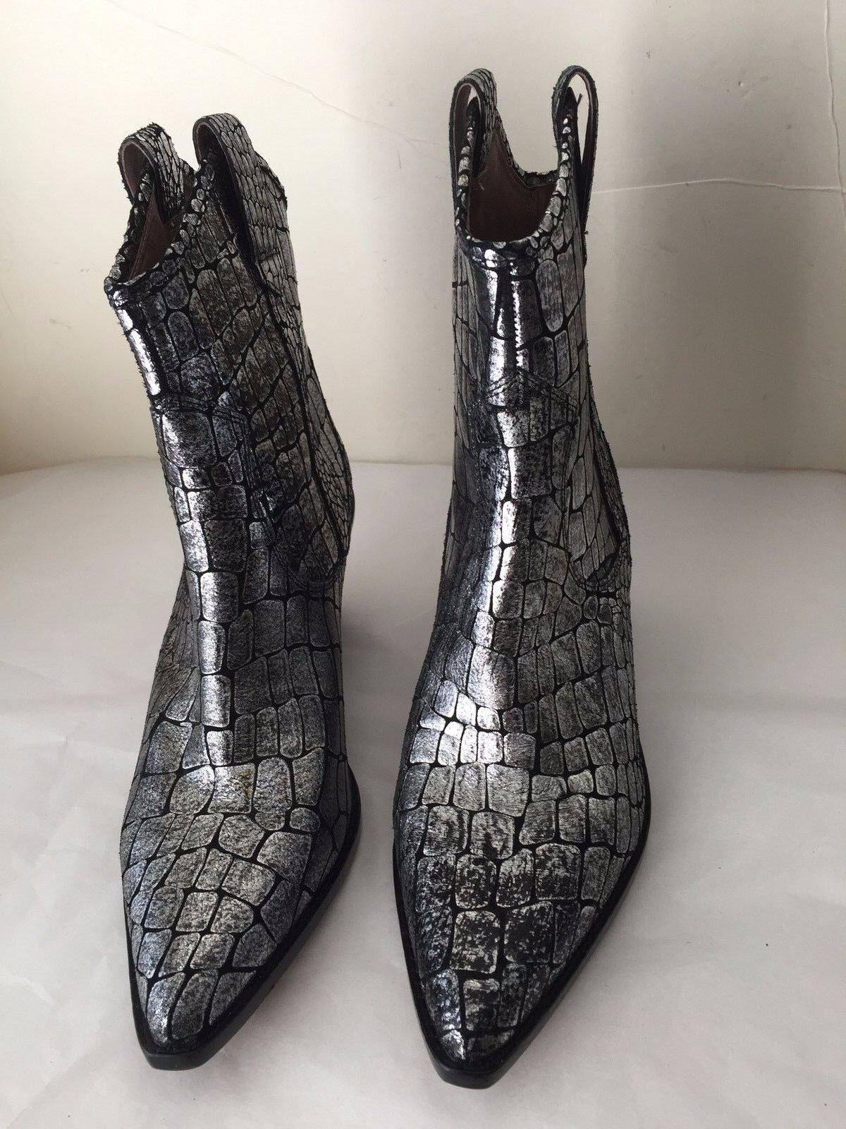 solo cómpralo Donald Pliner sesi Cocodrilo en relieve de de de Peltre Metálico botas occidentales izquierda 8.5 derecha 8  punto de venta en línea
