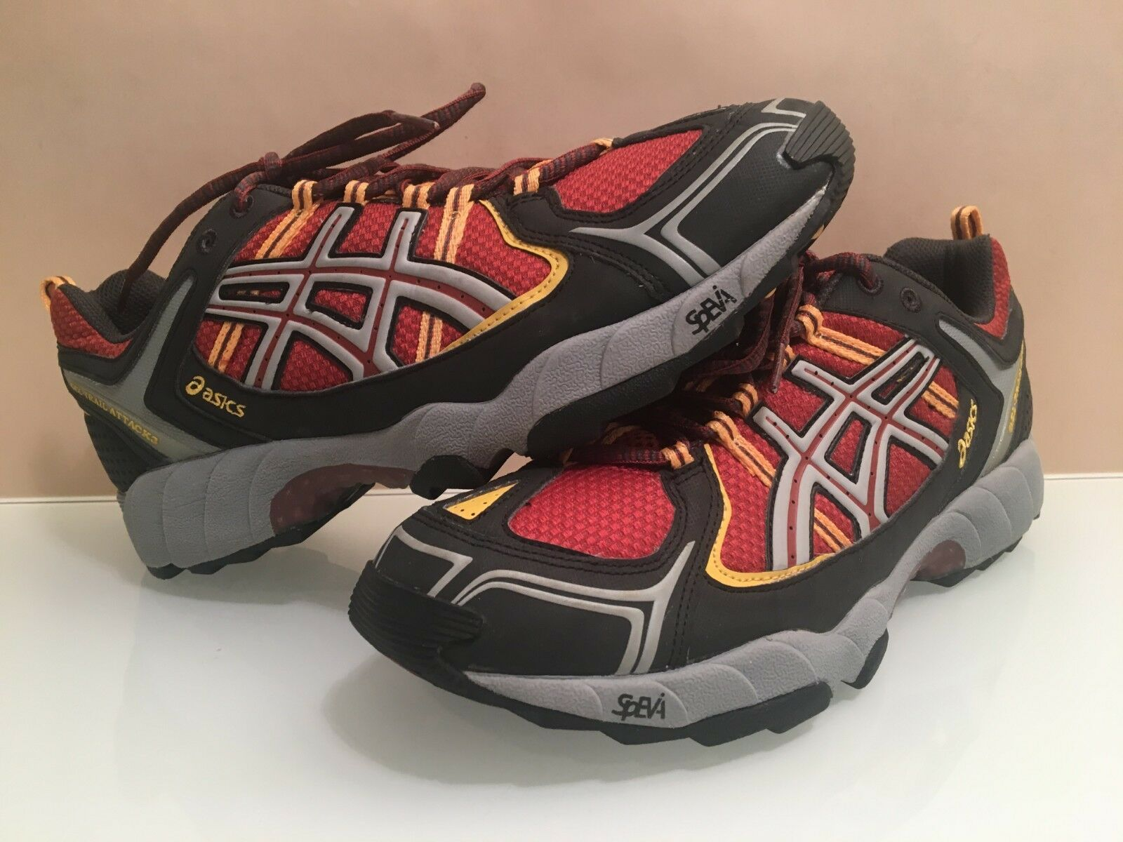 MENS ASICS GEL-TRAIL ATTACK 3 SHOES,SLIGHTLY USED,CLEAN,SIZE 10 U.S