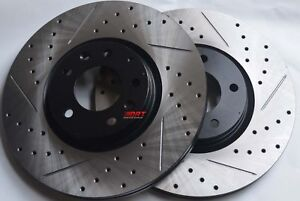 Fits-Juke-Nismo-RS-Slotted-or-Cross-Drilled-Brake-Rotors-Akebono-Pads-Front