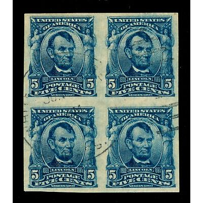 MOMEN: US STAMPS #315 USED BLOCK XF PF CERT