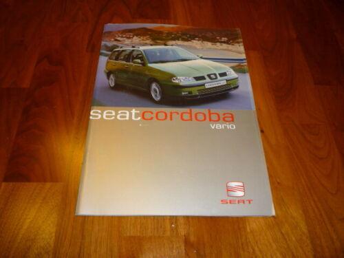 SEAT CORDOBA VARIO prospetto 06//2000