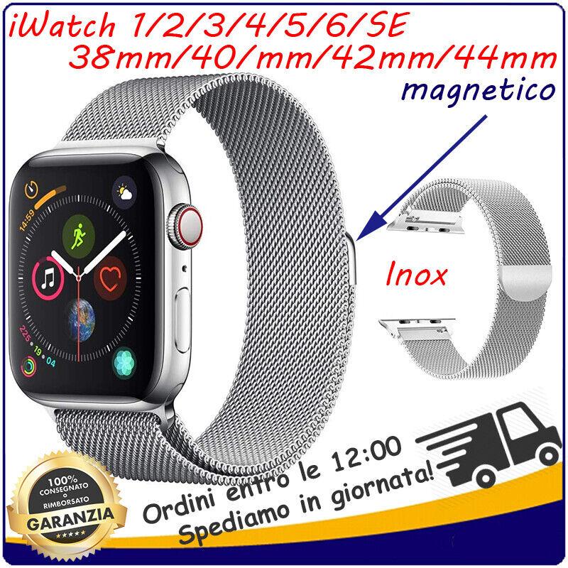 iwatch: Cinturino Milanese Acciaio Apple Watch iWatch 1 2 3 4 5 6 SE 38mm 40mm 42mm 44mm