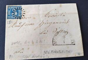 Bayern-Kreuzer-Brief-3-Kreuzer-blau-2II3-gMR-034-306-034-Marktleuthen-aus-1858