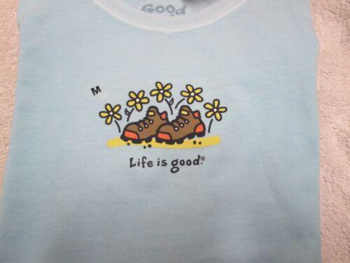 NWT S,M LIFE IS GOOD Girl/'s Daisy Boots Tee Shirt