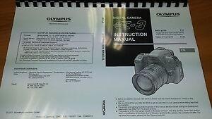 olympus e 3 digital camera printed instruction manual user guide 163 rh ebay co uk olympus camera instruction manual tg-4 olympus tough camera user manual