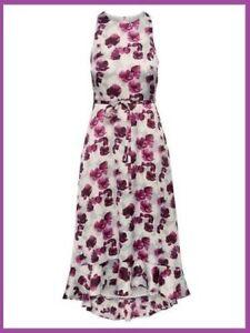 New Banana Republic Purple Poppy Fit Flare Maxi Dress 2 Ebay