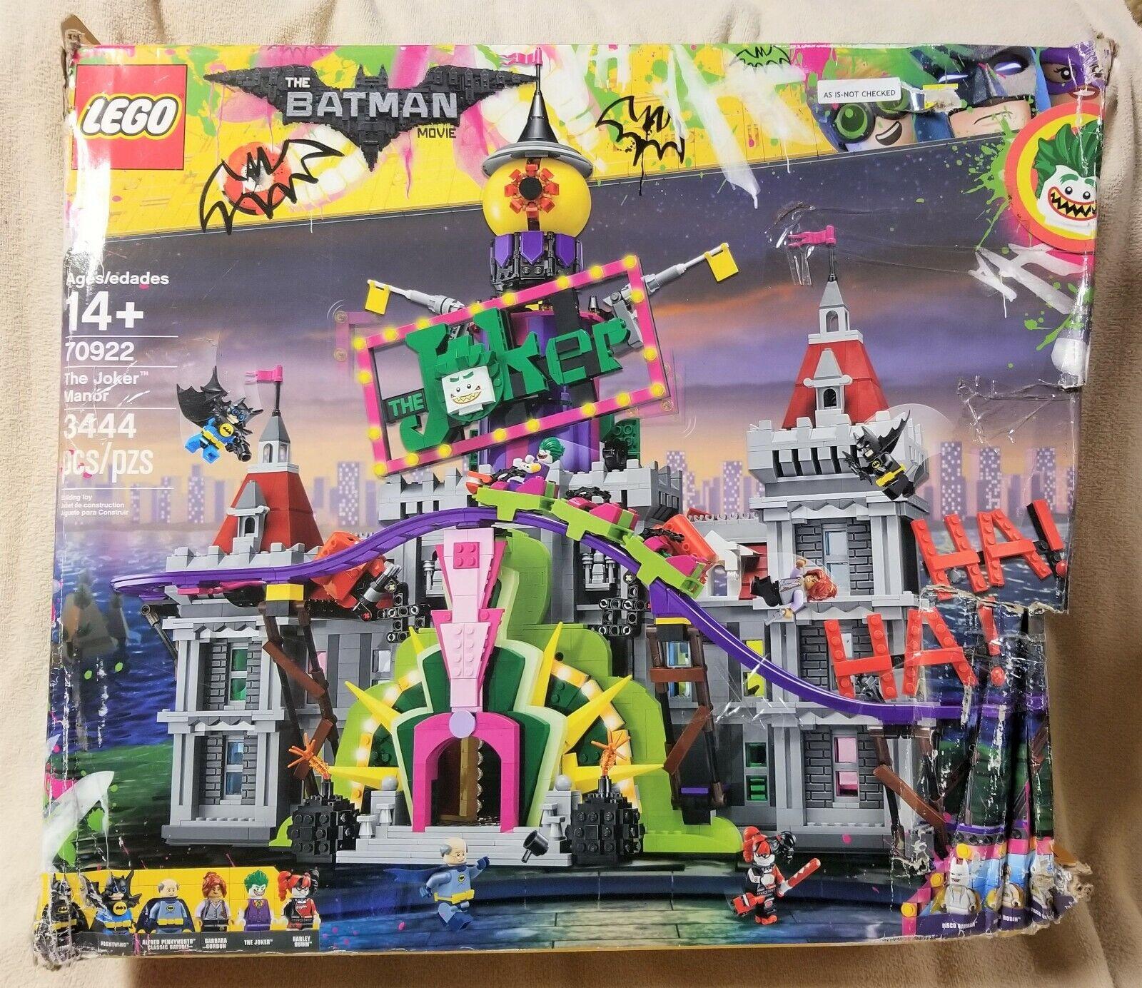 Película Lego Batman El Guasón Manor Conjunto de 3444 Piezas Juego Completo 70922 Nueva Caja Abierta