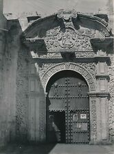 AREQUIPA c.1940 - Porte Eglise de Santo Domingo  - Ph. R. d'Harcourt - DIV 9954
